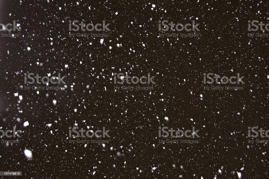 Heavy snowing stock photo