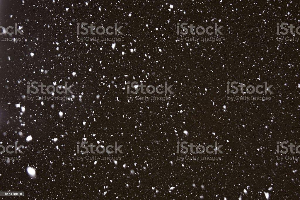 Heavy snowing stock photo
