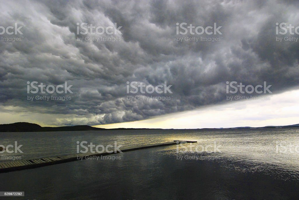 Heavy storm approaching stock photo