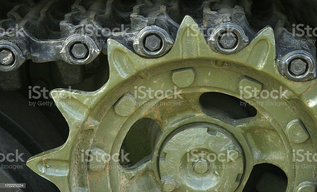 Heavy tank track stock photo