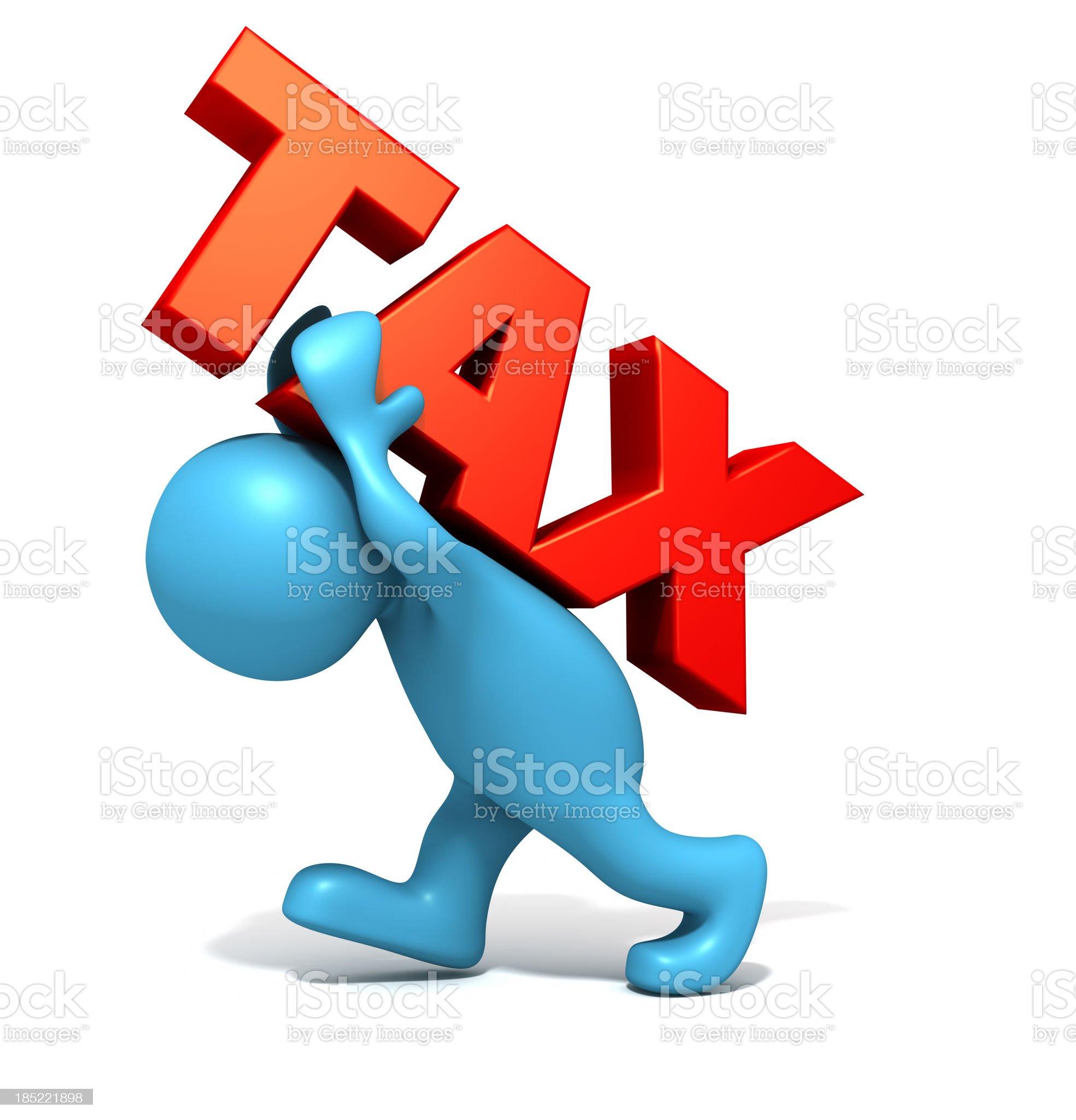 Heavy Taxes royalty-free stock photo