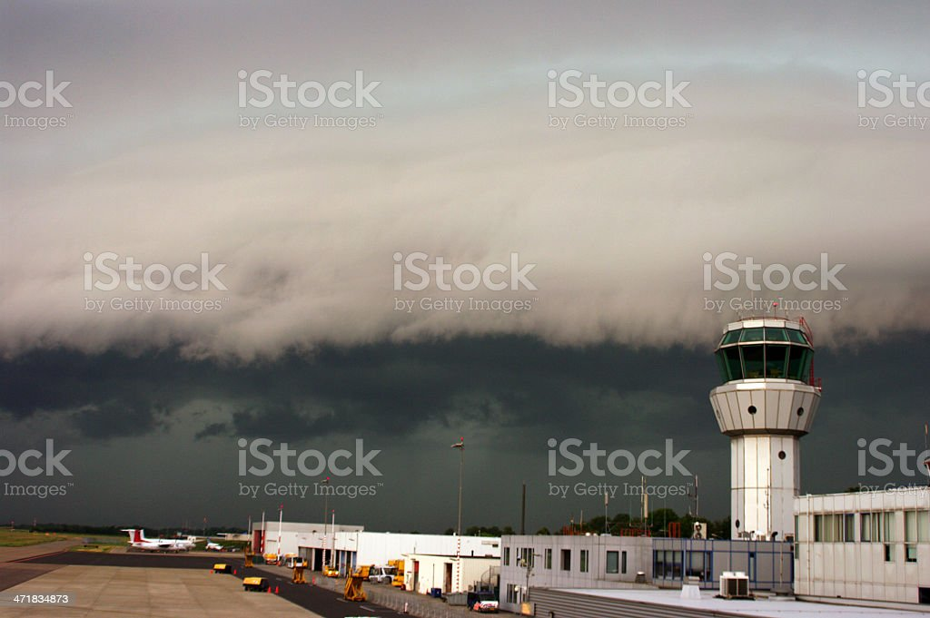 Heavy thunderstorm is on the way stock photo