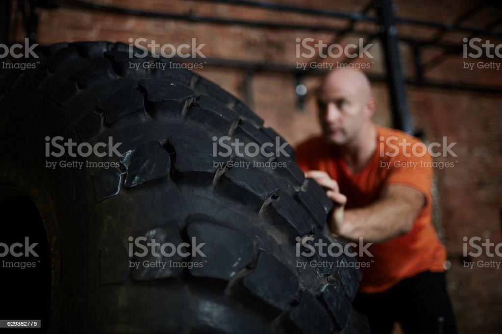 Heavy tire stock photo