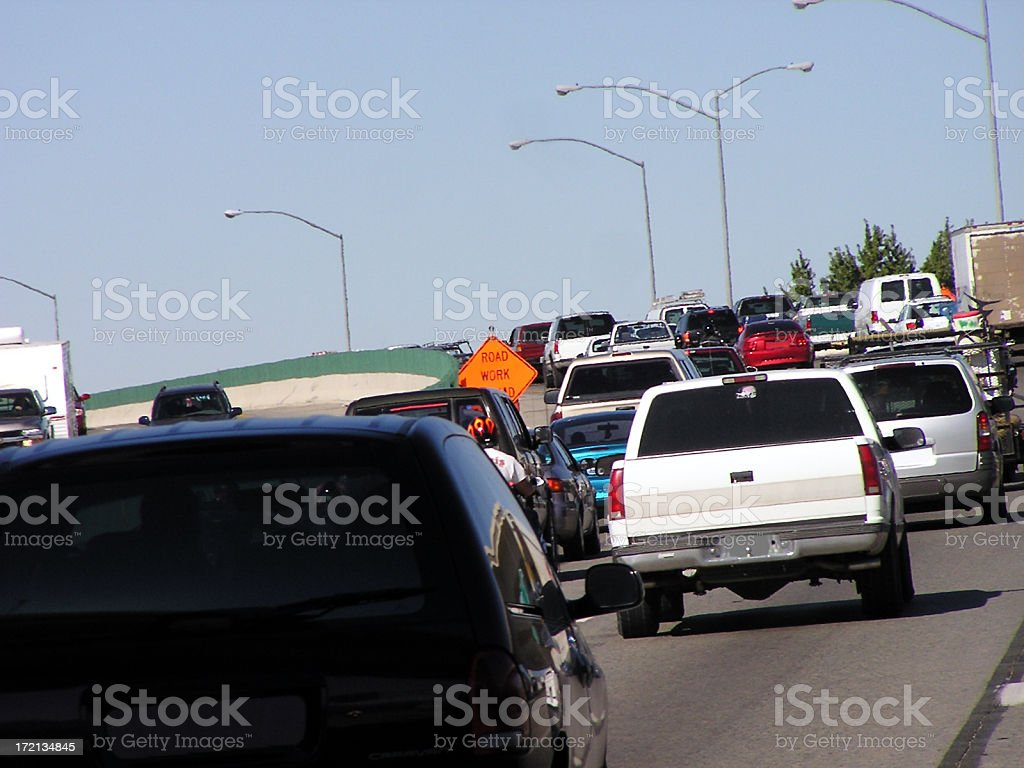 Heavy Traffic on Hot Day royalty-free stock photo
