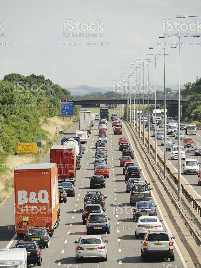 Heavy Traffic on the M5 stock photo