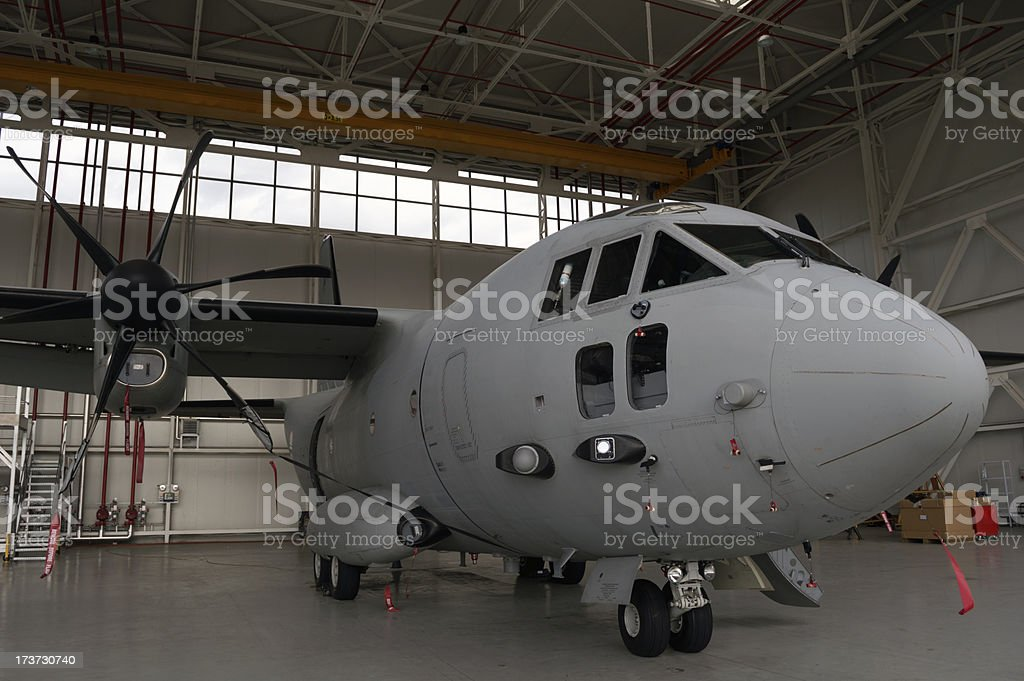 Heavy transport airplane royalty-free stock photo