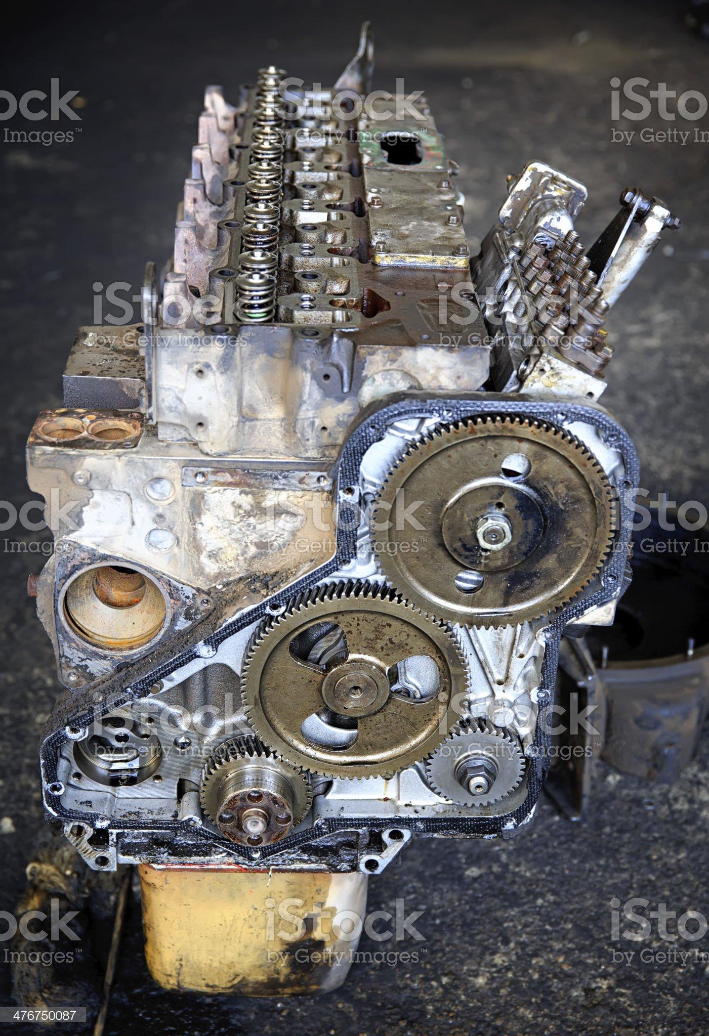 Heavy truck engine royalty-free stock photo