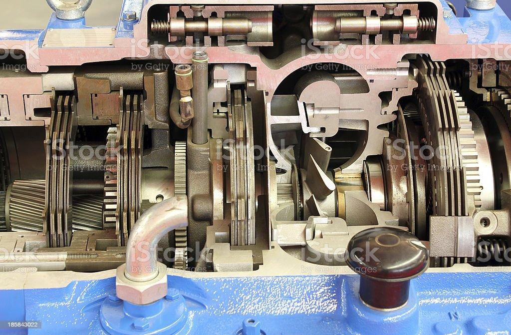 heavy truck gearshift close up royalty-free stock photo