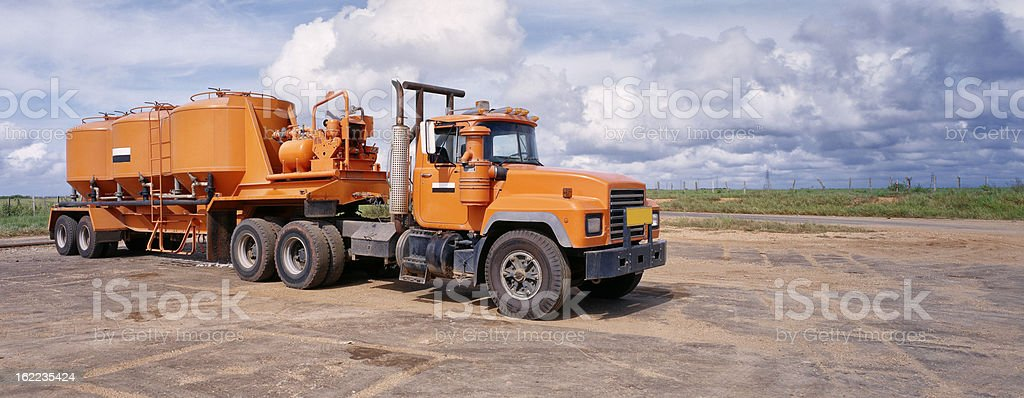 Heavy truck in oil industry royalty-free stock photo