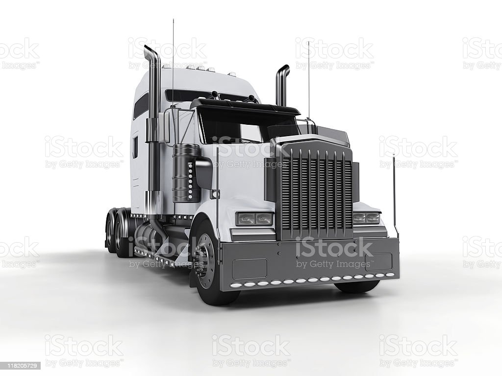 Heavy truck isolated on white background royalty-free stock photo