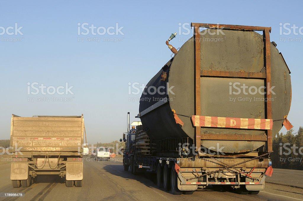 Heavy trucking royalty-free stock photo