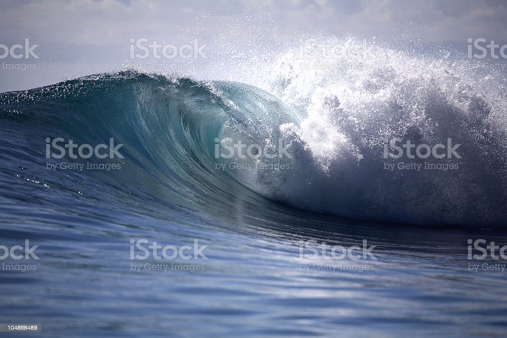 Heavy wave stock photo