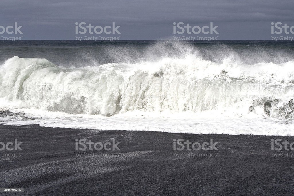 heavy waves with white wave crest royalty-free stock photo