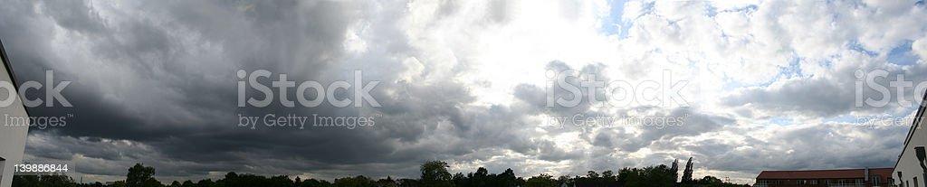 heavy weather panorama royalty-free stock photo