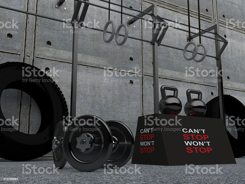 Heavy Weights - Crossfit Equipment stock photo