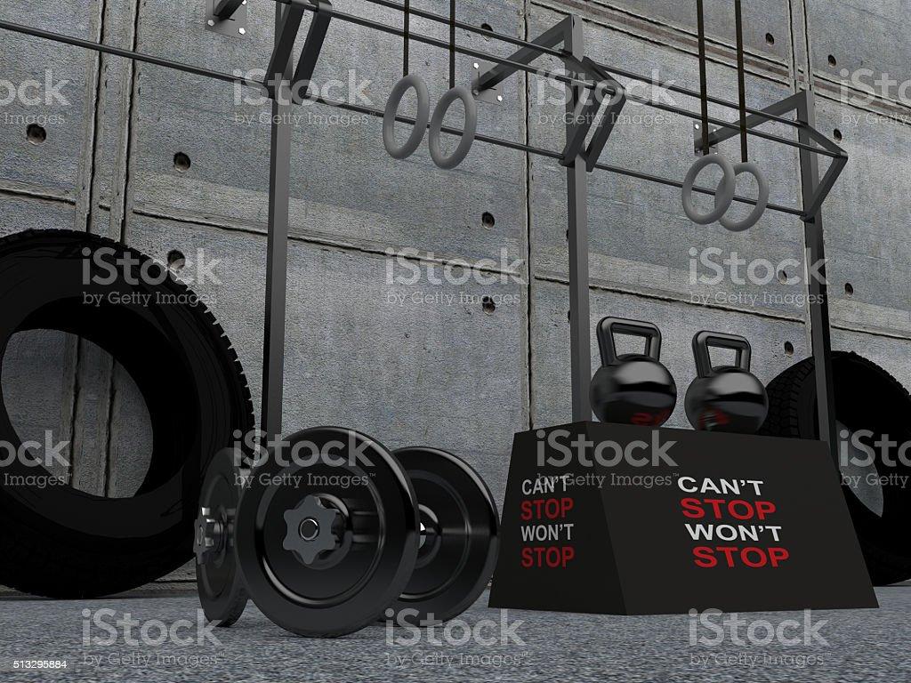 Heavy Weights - gym Equipment stock photo
