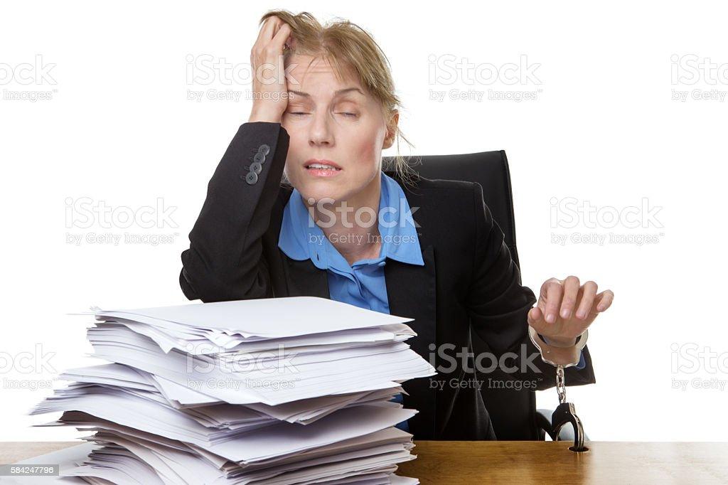 Heavy workload concept stock photo