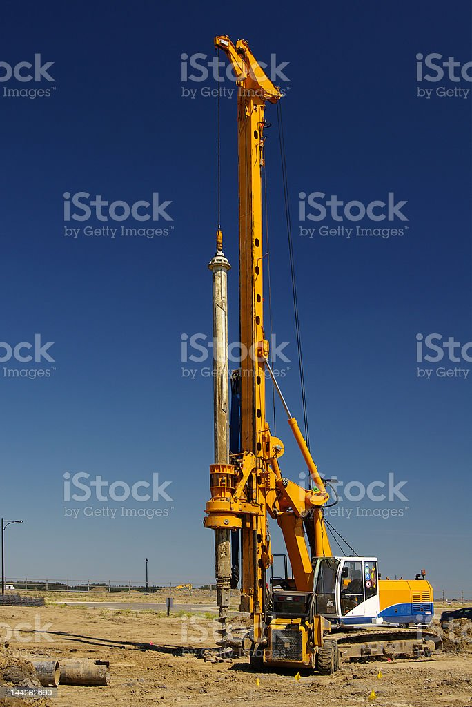Heavy-duty Rotary Auger stock photo