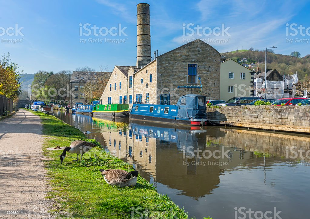 Hebden Bridge, West Yorkshire stock photo
