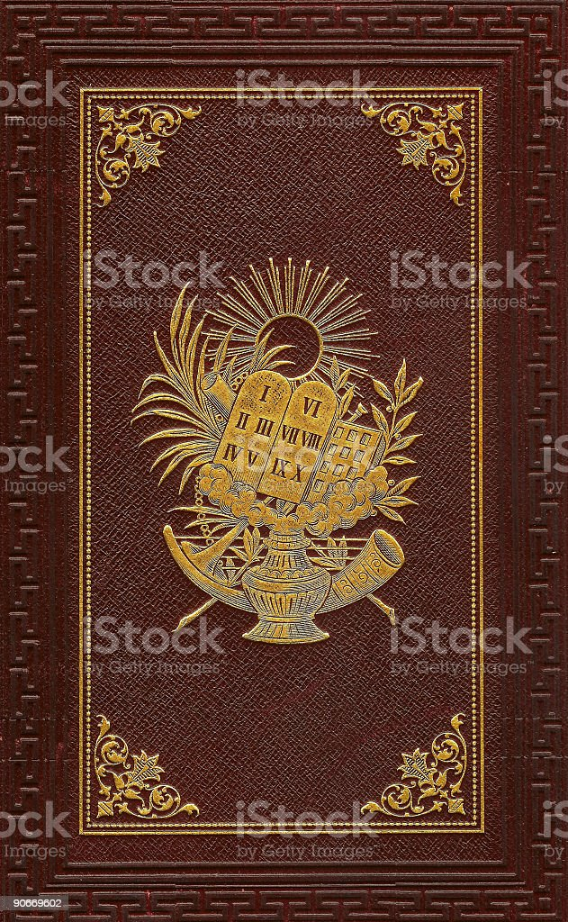 Hebrew prayer book - red stock photo
