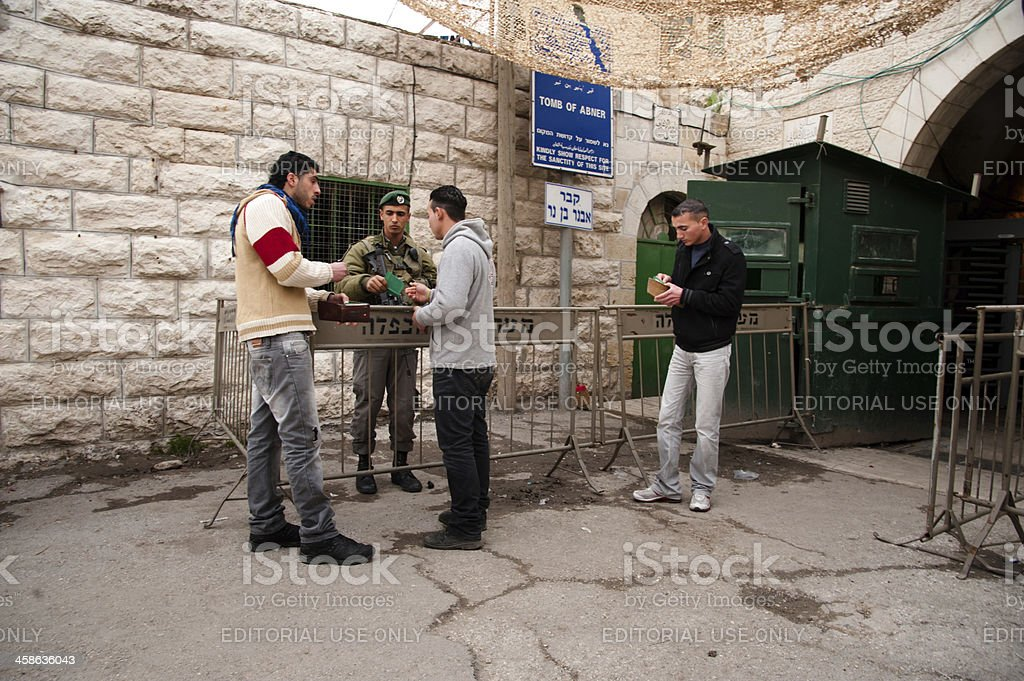 Hebron checkpoint royalty-free stock photo