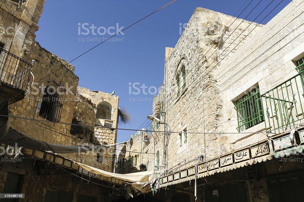 Hebron market, the Palestinian territories stock photo