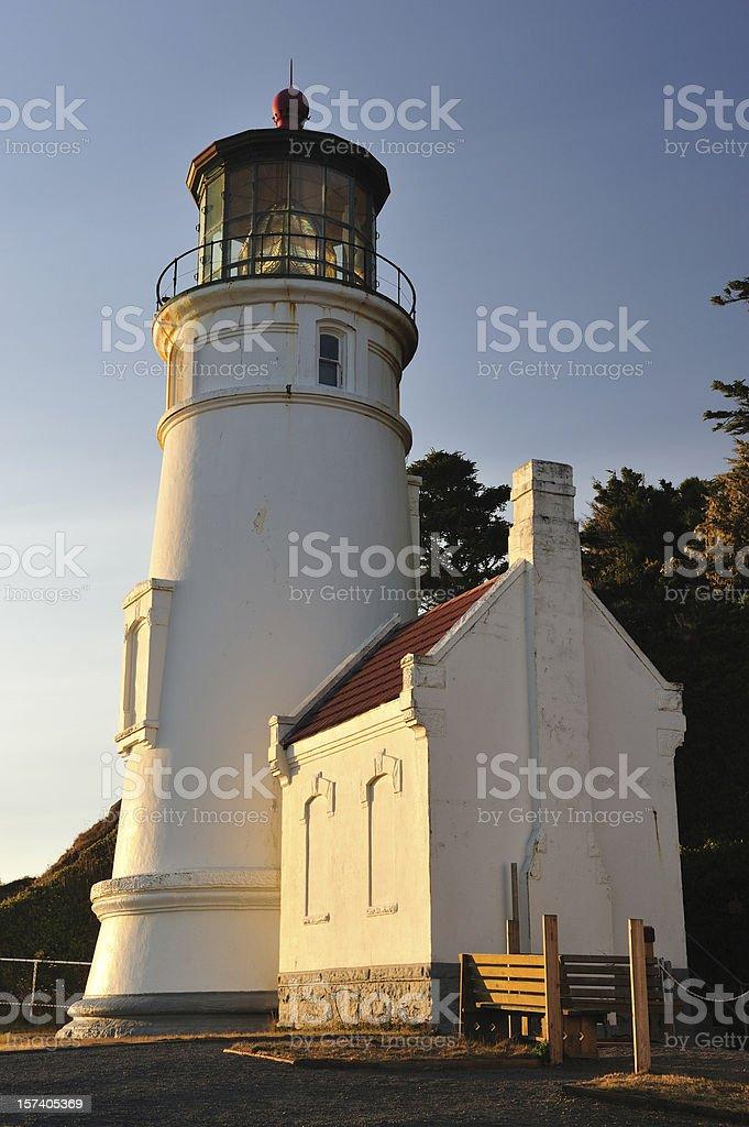 Heceta Head Lighthouse in Oregon stock photo