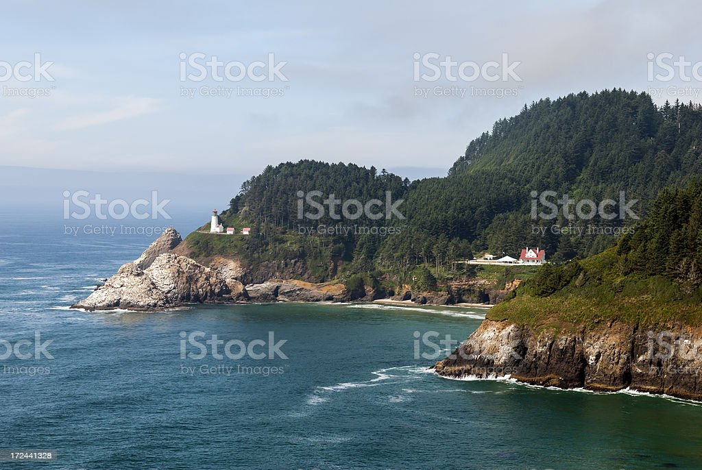 Heceta Head Lighthouse on Oregon Coast stock photo