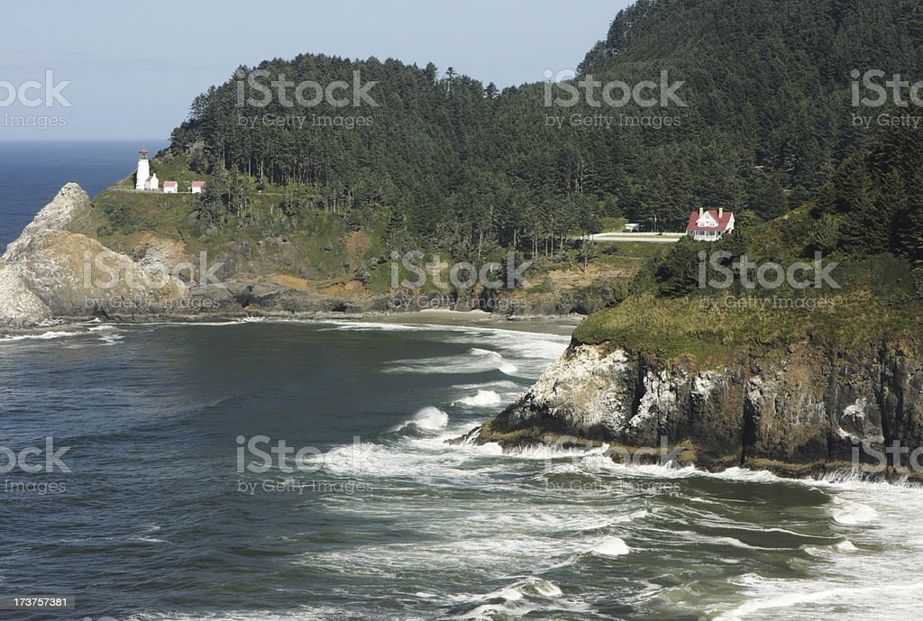 Heceta Head Lighthouse Oregon Pacific Coast stock photo