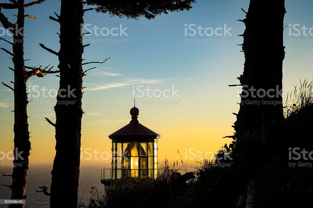 Heceta Head Lighthouse, Oregon stock photo