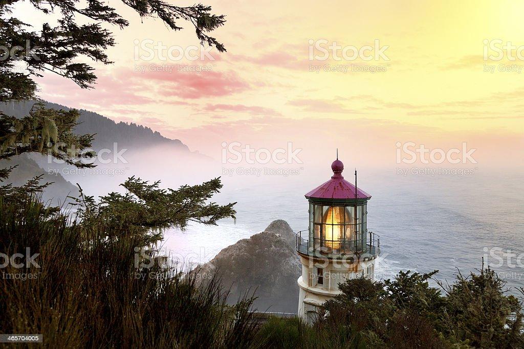 Heceta Head Lighthouse, Oregon State stock photo