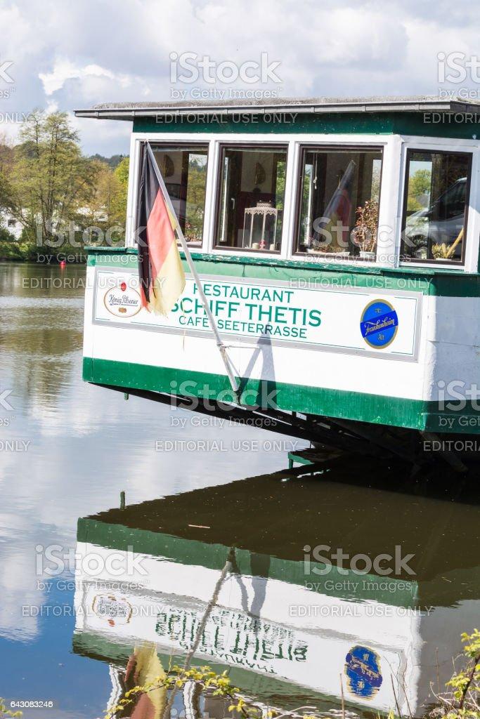 Heck des Cafe und Restaurant Schiffes Tetris stock photo