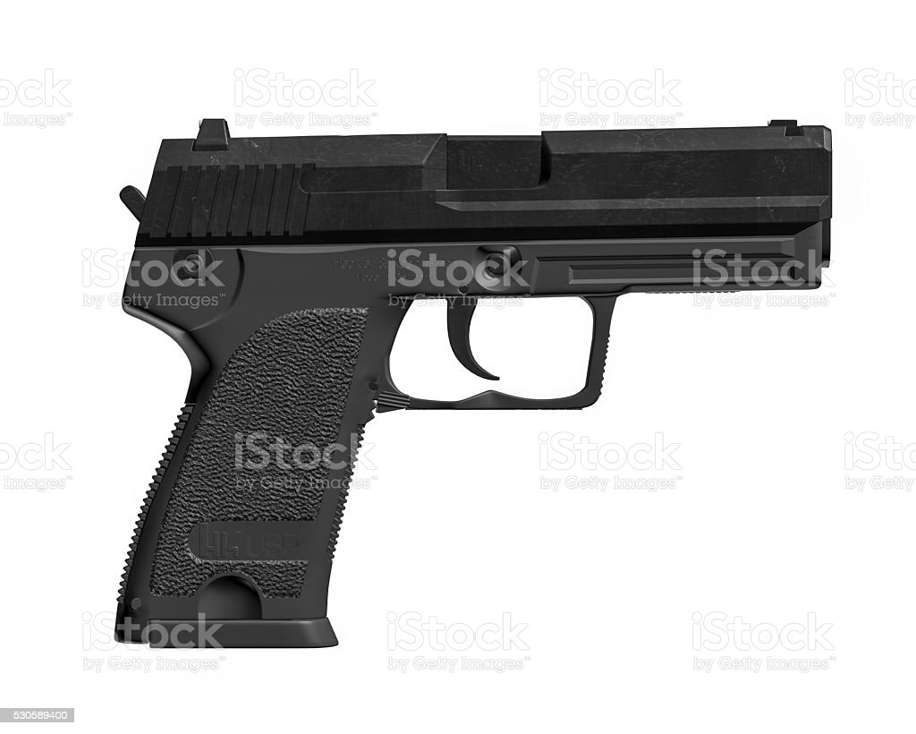 Heckler & Koch USP (Universelle Selbstladepistole Or 'Universal Self-Loading Pistol') stock photo