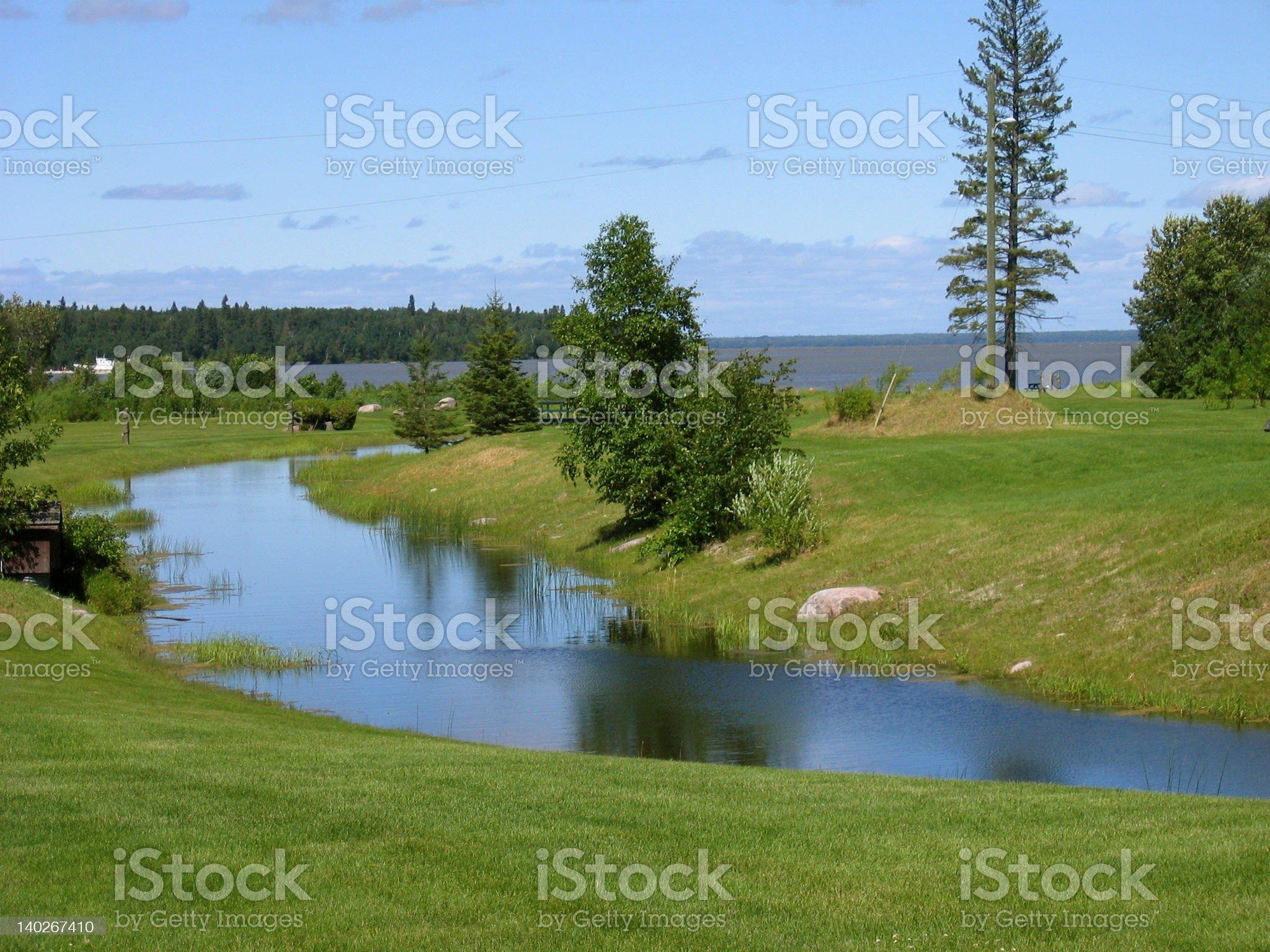 Hecla Island royalty-free stock photo