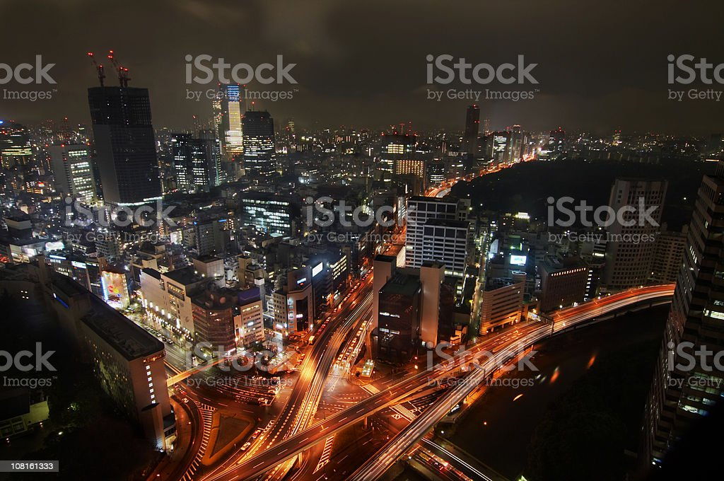 hectic city life in tokyo stock photo