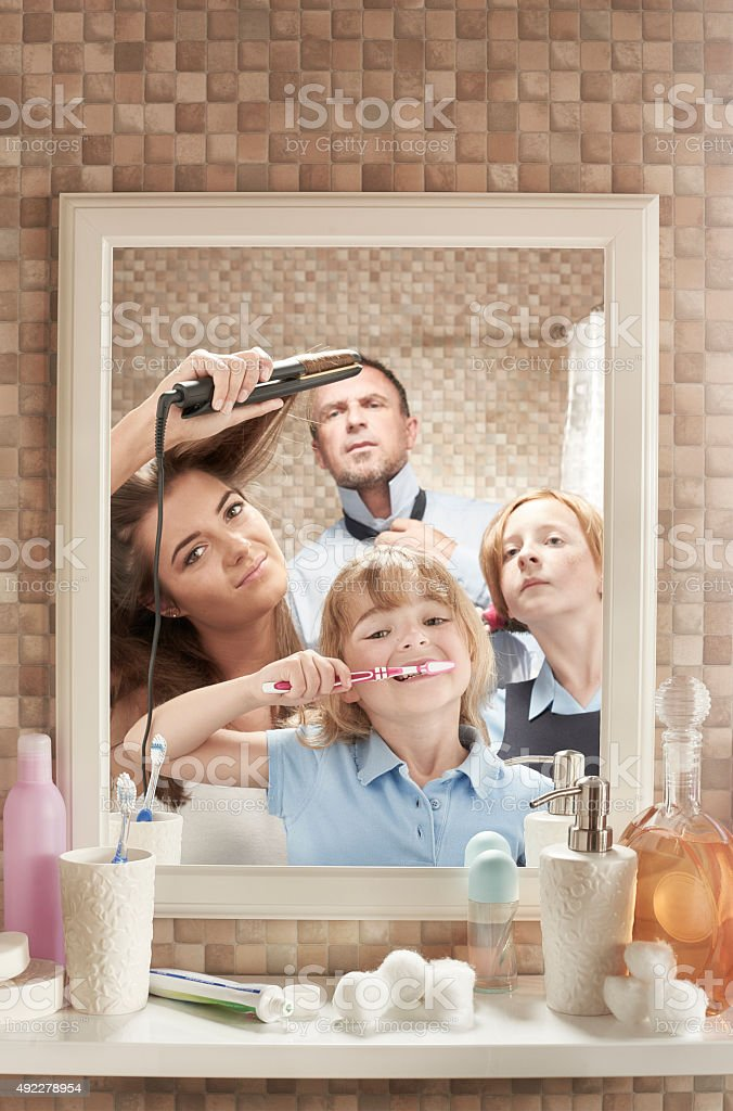 Hectic morning stock photo