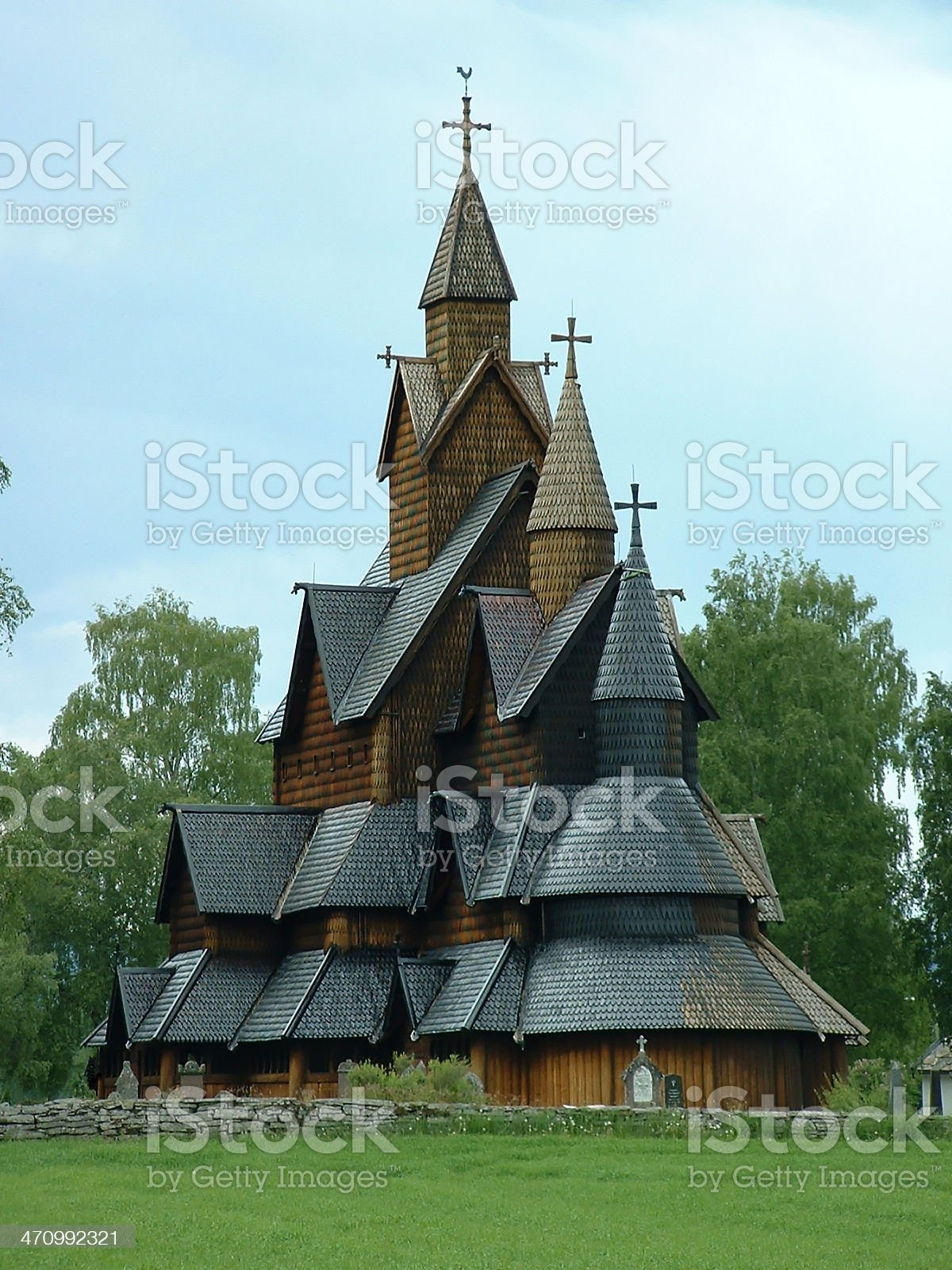 Heddal Stave Church royalty-free stock photo