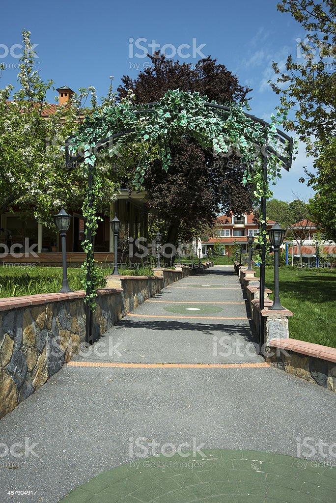 Hedge Gateway royalty-free stock photo