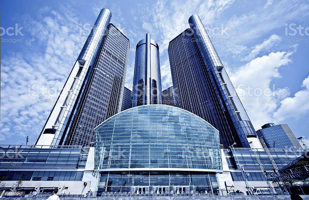 GM Hedquarter in Detroit stock photo