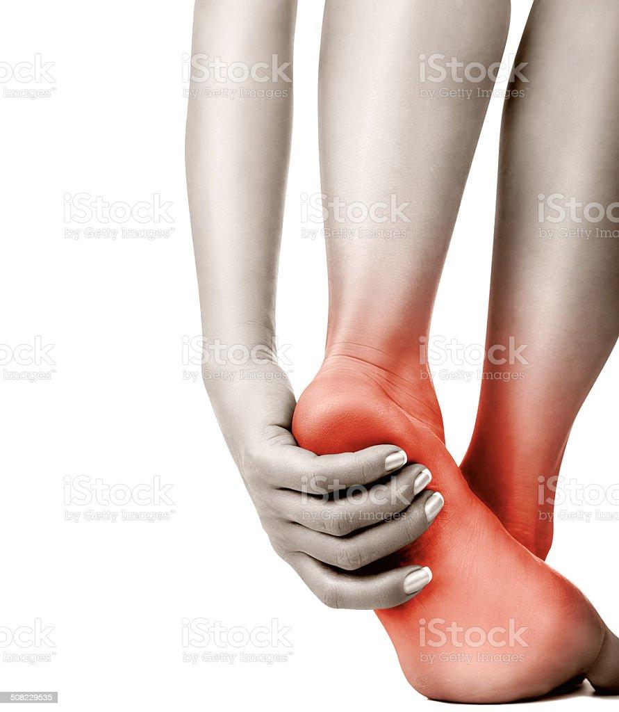 Heel pain stock photo