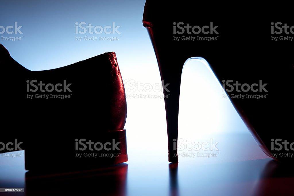 Heels stock photo