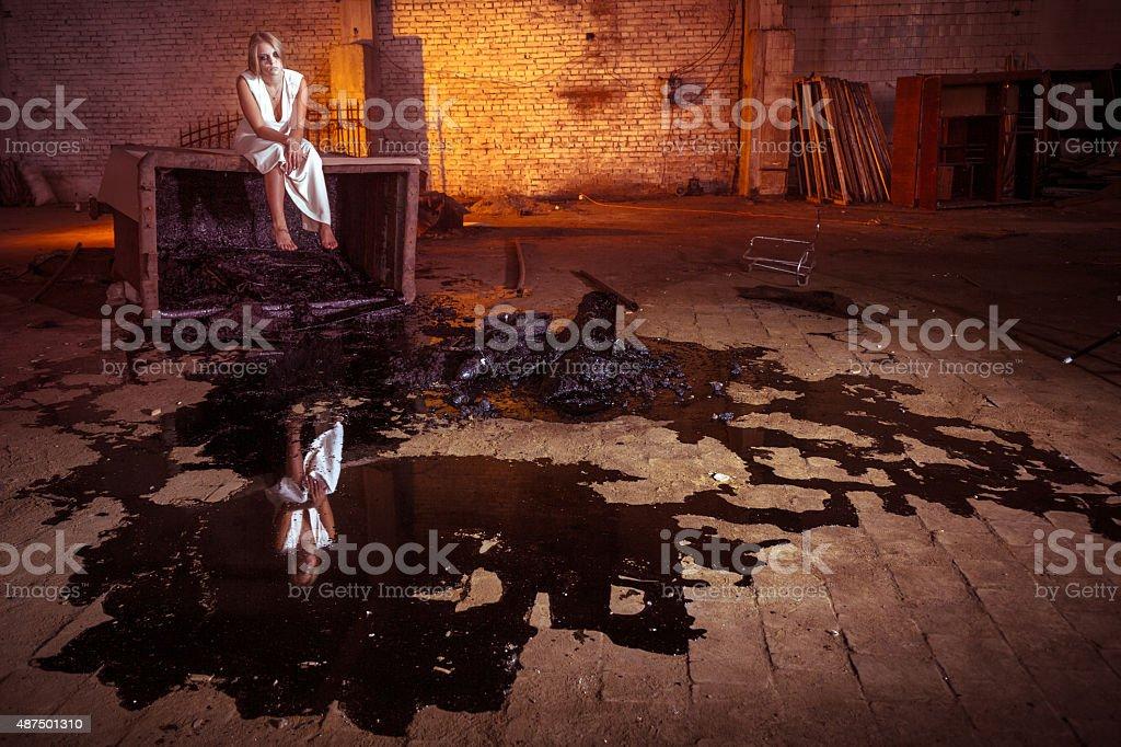 Сheerless Look into Future stock photo