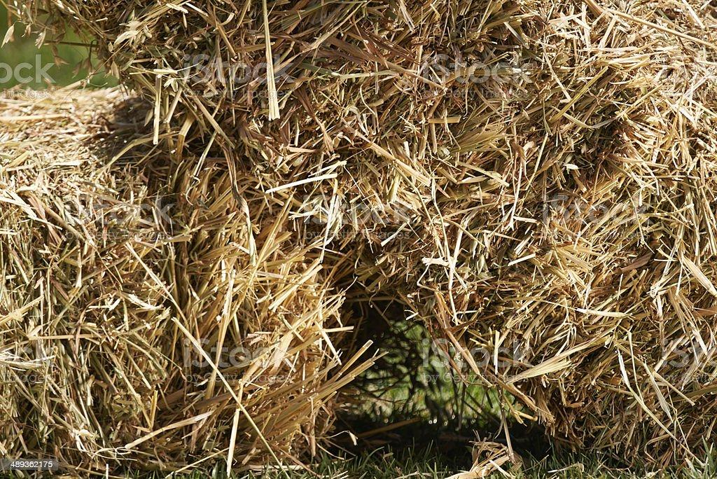 Hefty hay bales royalty-free stock photo
