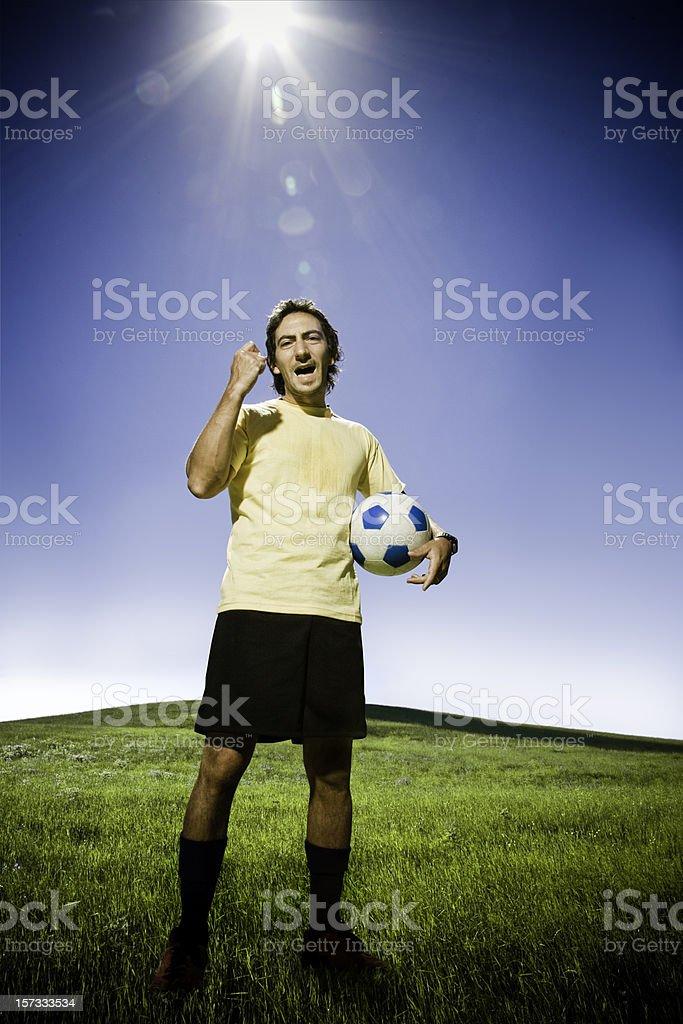 Hei Stupido! Soccer Player royalty-free stock photo