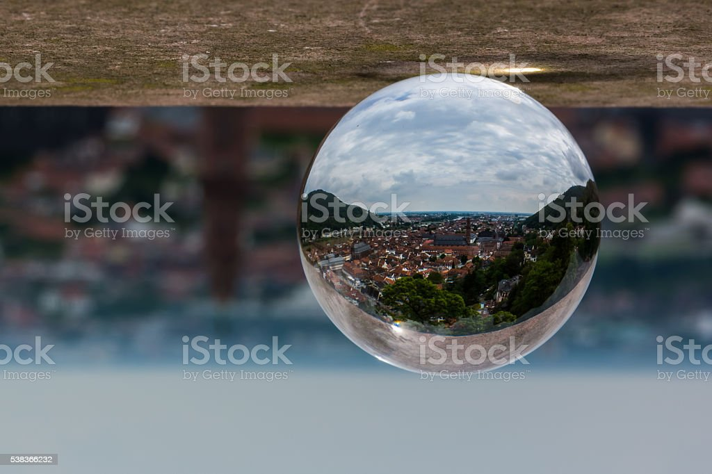 Heidelberg Altstadt (Old City) Through the Sphere stock photo