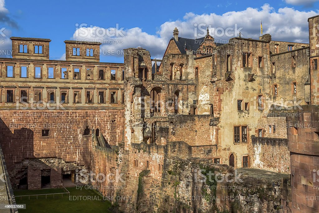 Heidelberg Castle exterior stock photo