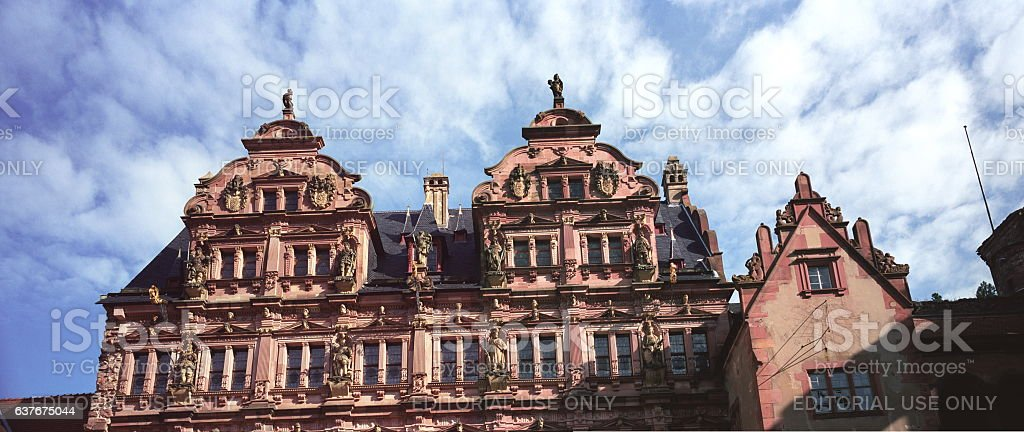 Heidelberg Castle Facade in Heidelberg, Germany stock photo