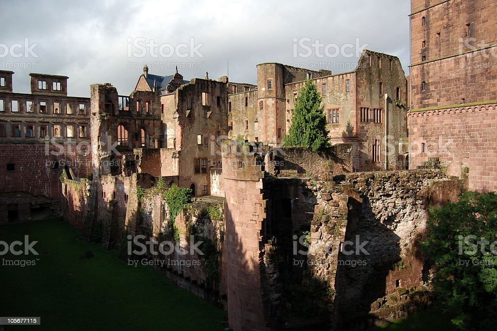 Heidelberg castle in Germany stock photo