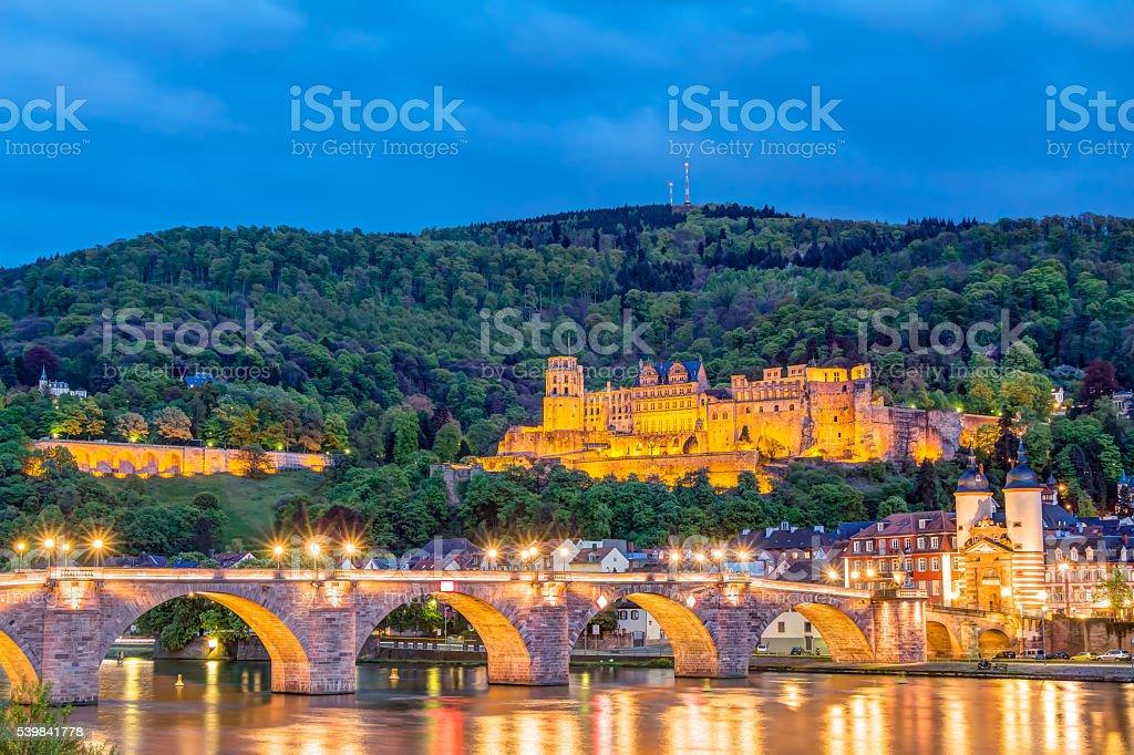 Heidelberg Castle ruin stock photo