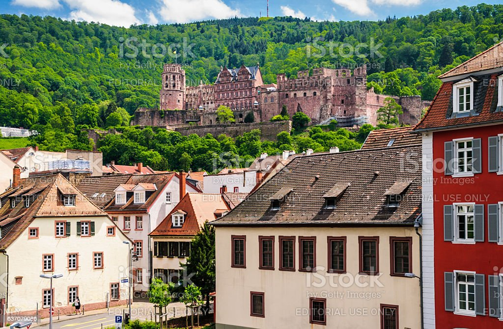 Heidelberg Castle Ruins stock photo